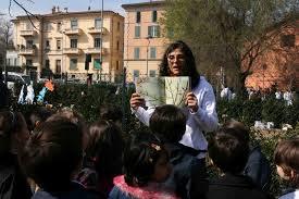 Incontro con le scuole ai giardini del Baraccano, Bologna, per parolexstrada